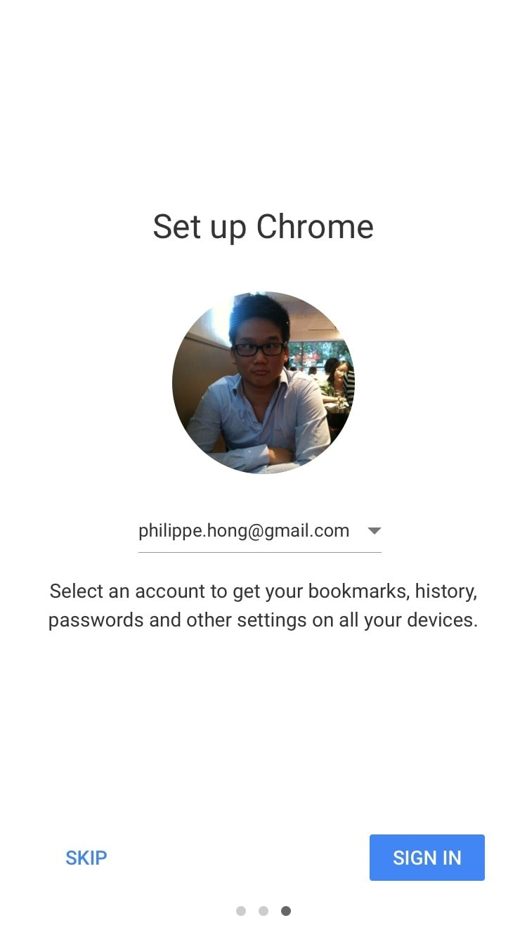 Onboarding on iOS by Chrome from UIGarage