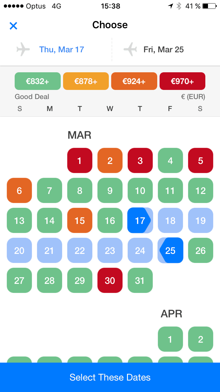 Date picker on iOS by Hopper from UIGarage