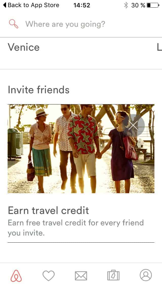 Invite friends on iOS by Airbnb from UIGarage