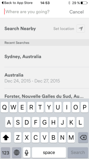 Search bar on iOS by Airbnb from UIGarage