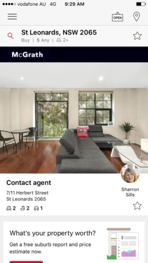 Search results on iOS by Realestate from UIGarage