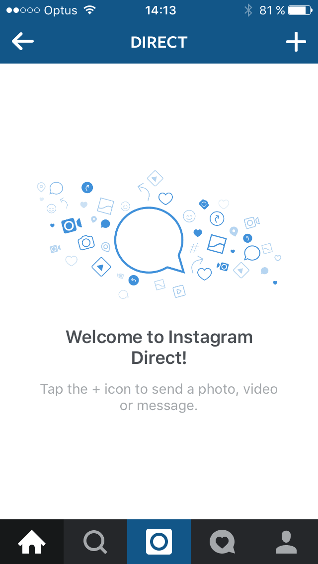 Empty state on iOS by Instagram from UIGarage