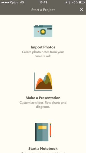 Start a project on iOS by Fiftythree from UIGarage