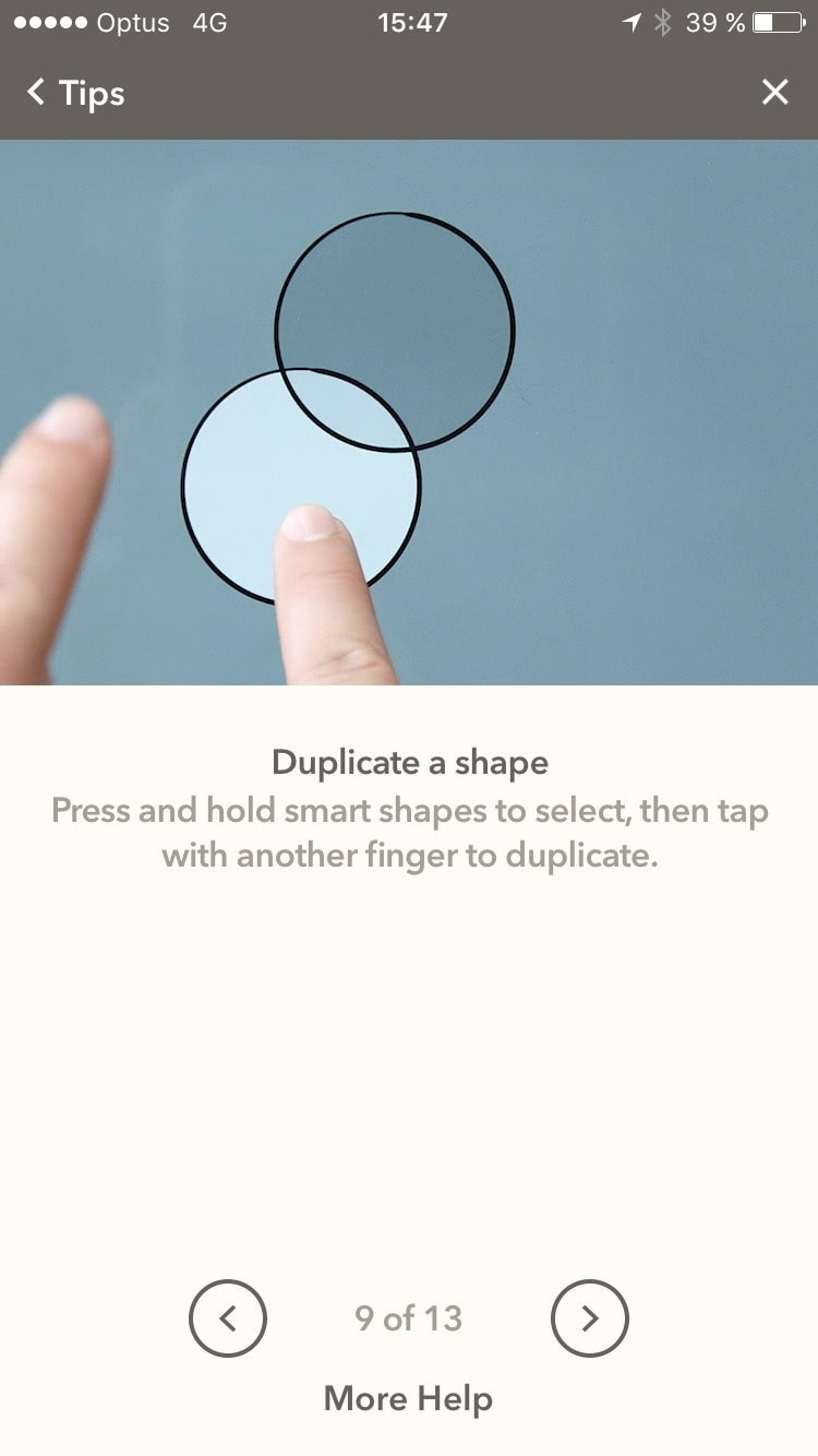 Long walkthrough on iOS by Fiftythree from UIGarage