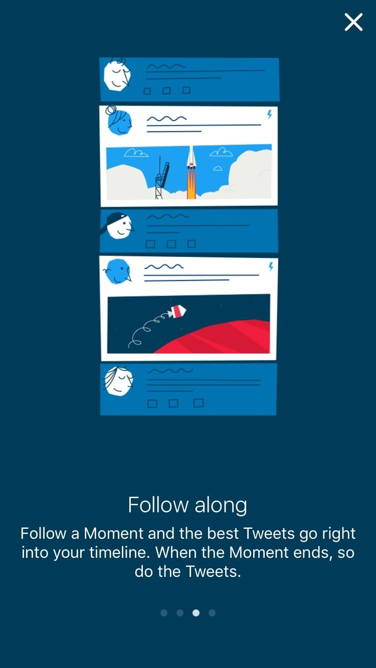 Onboarding on Twitter from UIGarage