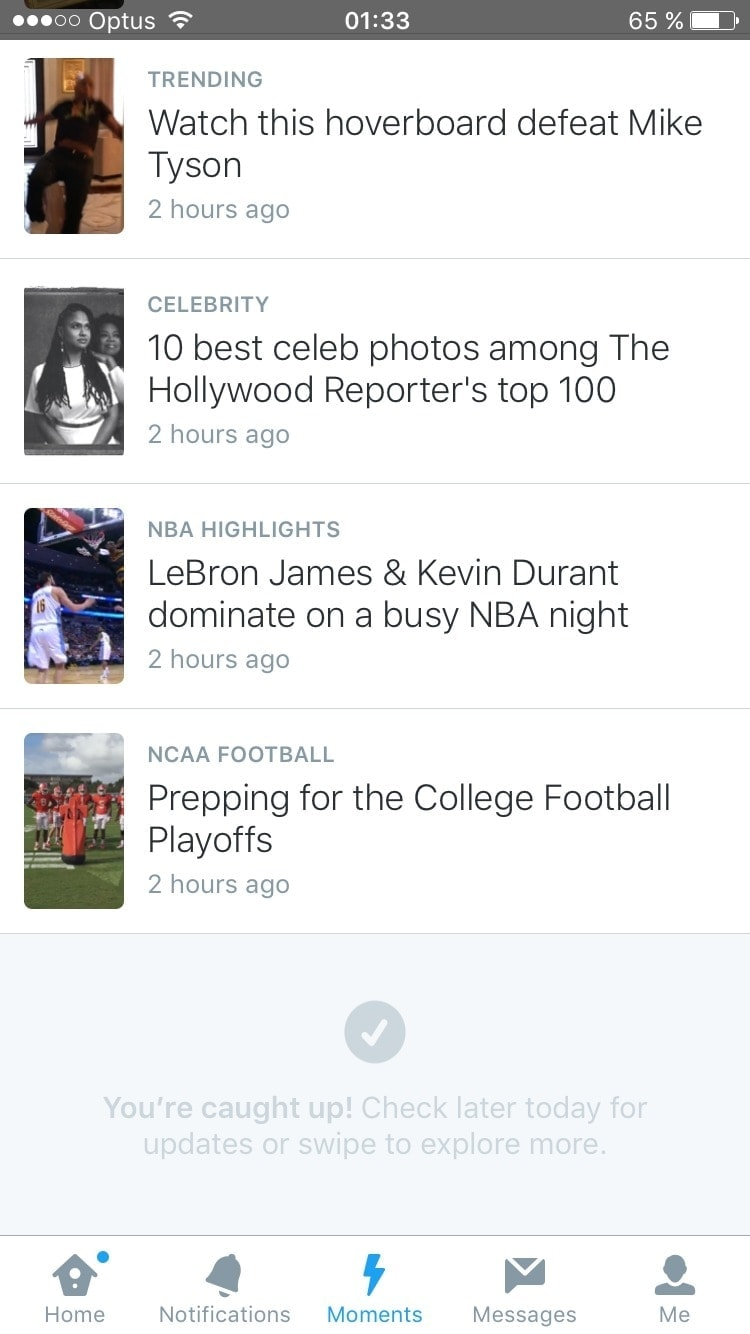 Reach the end on iOS by Twitter from UIGarage