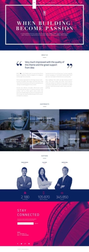 Landing page by Mice from UIGarage