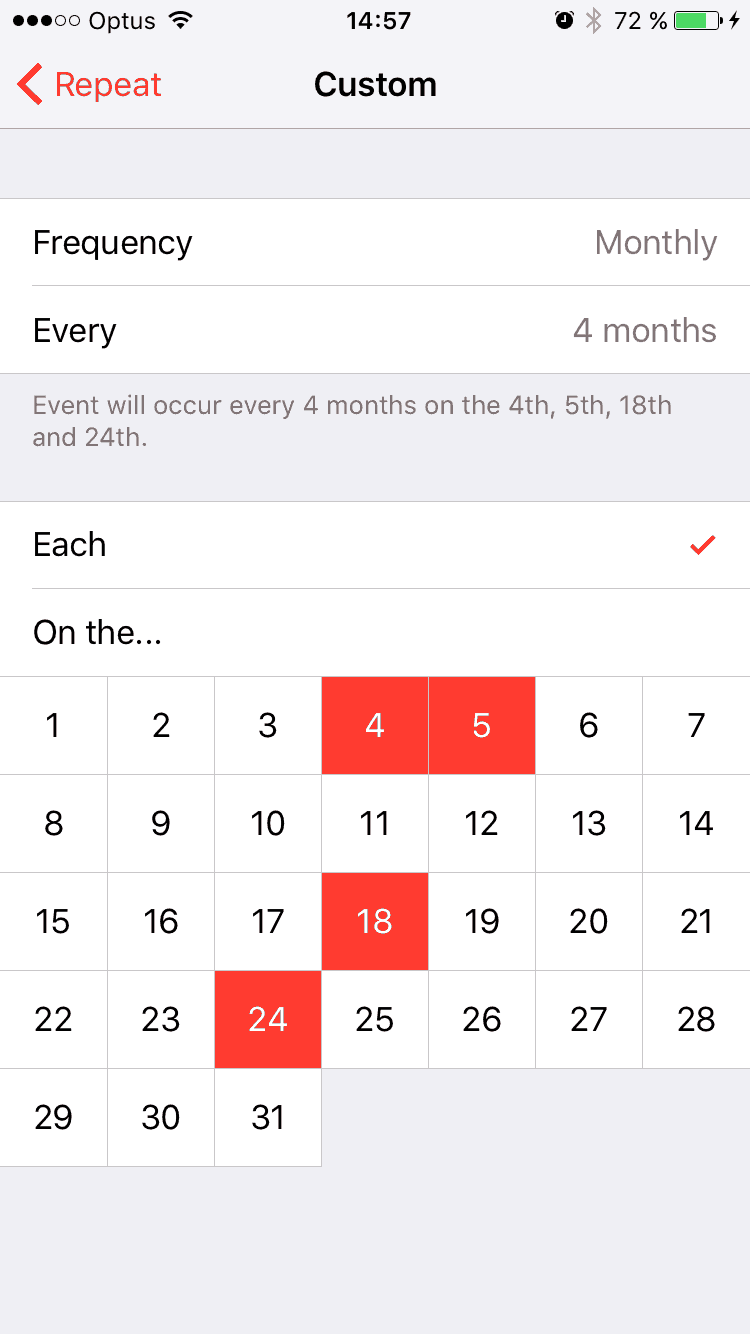 Date Picker by iCal from UIGarage