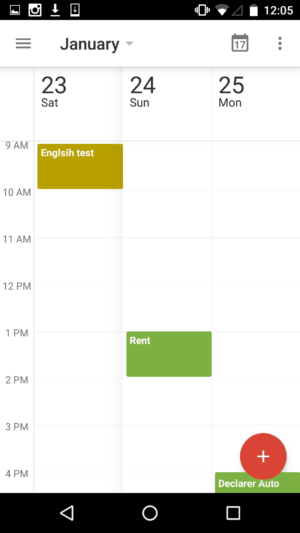 3 Day view by Google Calendar from UIGarage