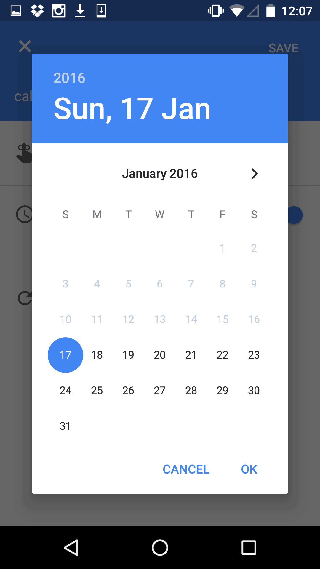 Date Picker by Google Calendar from UIGarage