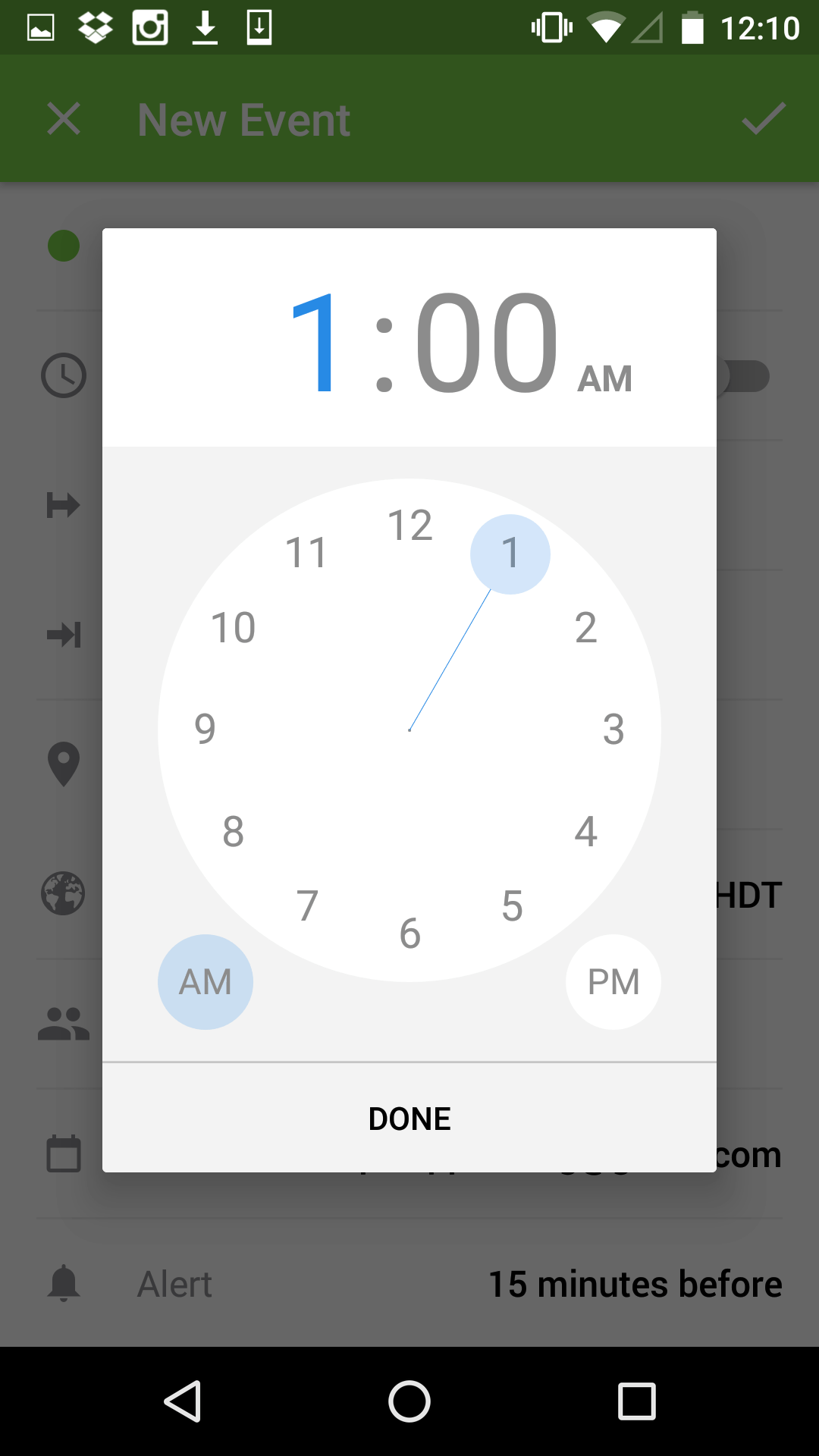 Time Picker by Sunrise from UIGarage