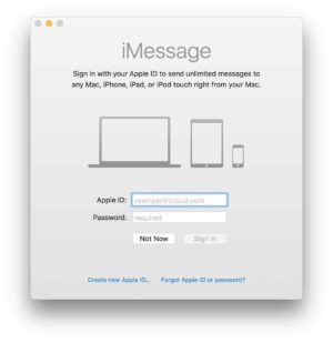 Sign in Screen by Mac iMessage from UIGarage