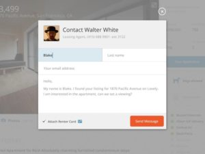 Contact forms by Kerem from UIGarage