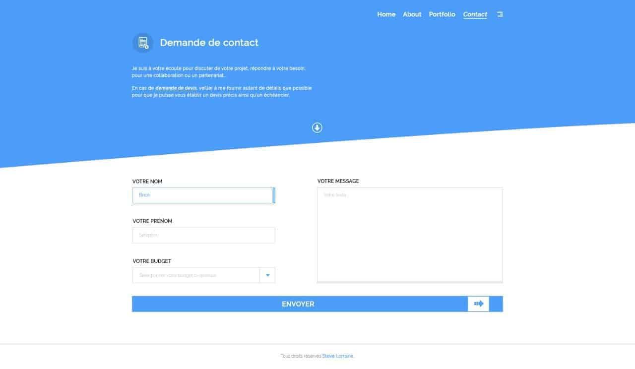 Contact forms by Briceseraphin from UIGarage