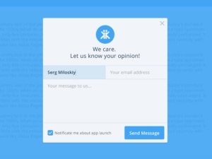 Contact forms by Miloskiy from UIGarage