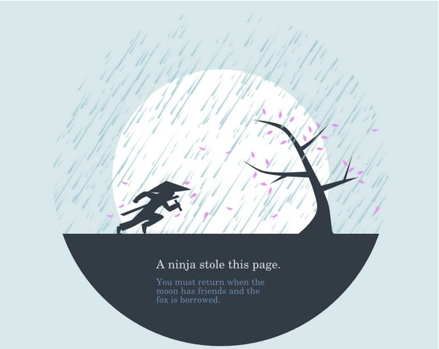 404 page by Huwshimi. from UIGarage
