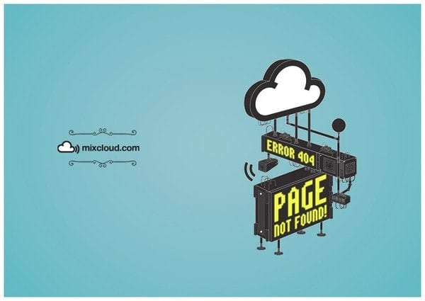 404 page by Mixcloud from UIGarage