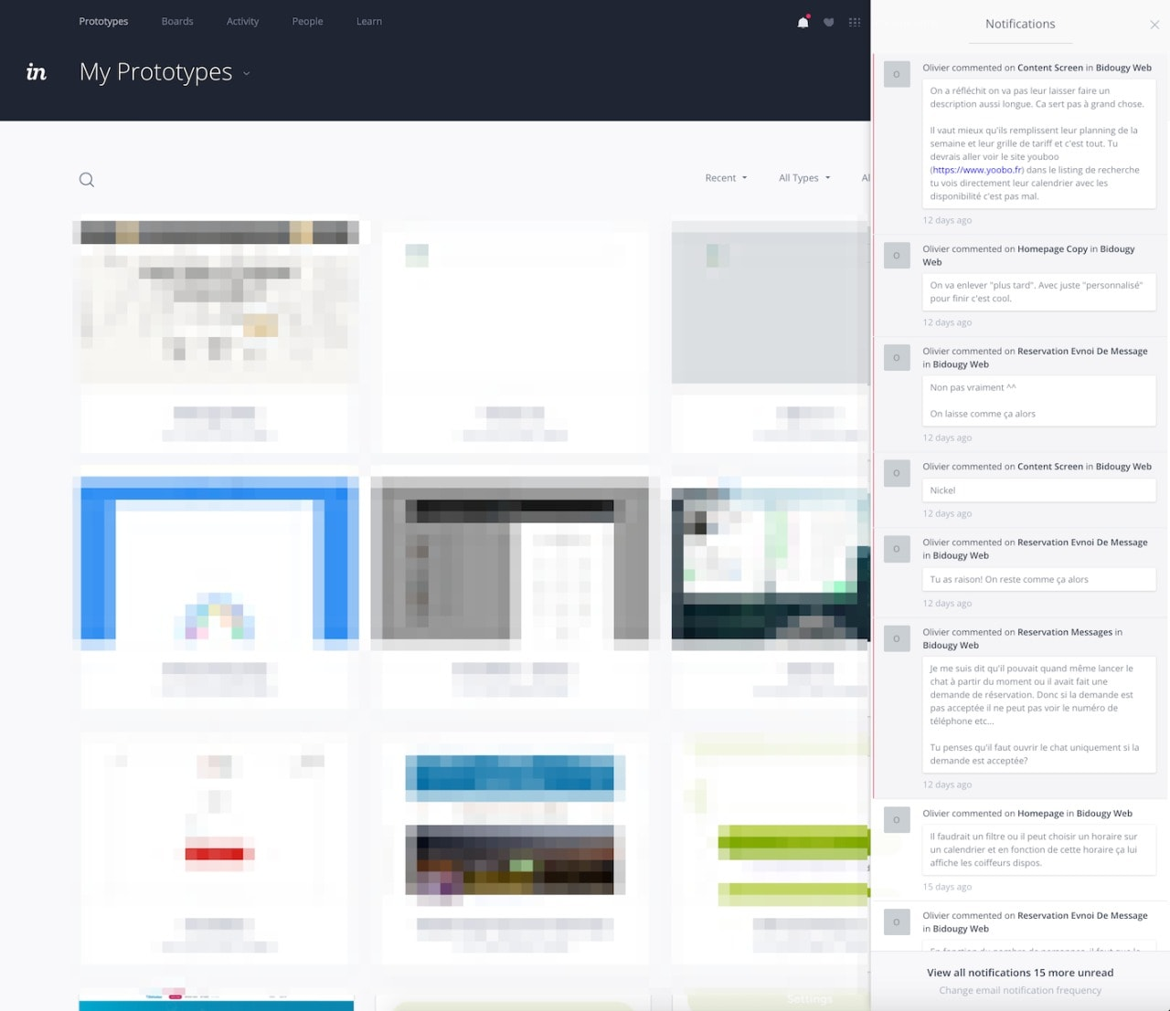 Activity/Notifications by Invision from UIGarage