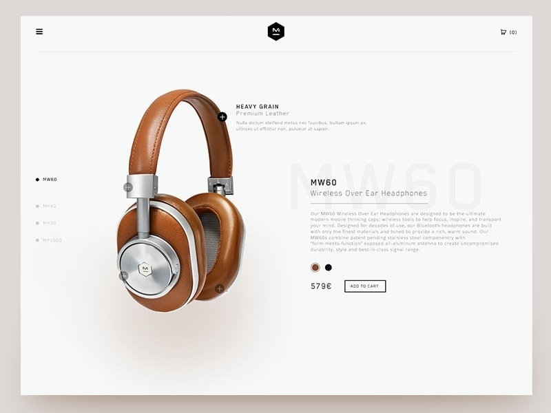 Product page by Valentin SLN from UIGarage
