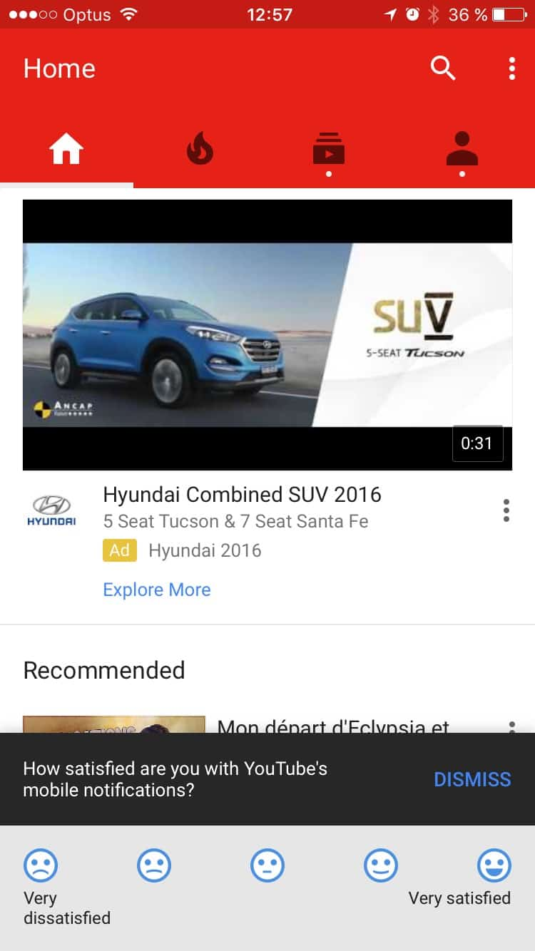 Ask for review by Youtube from UIGarage