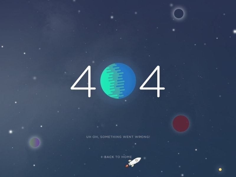 404 page by Anton Chandra from UIGarage