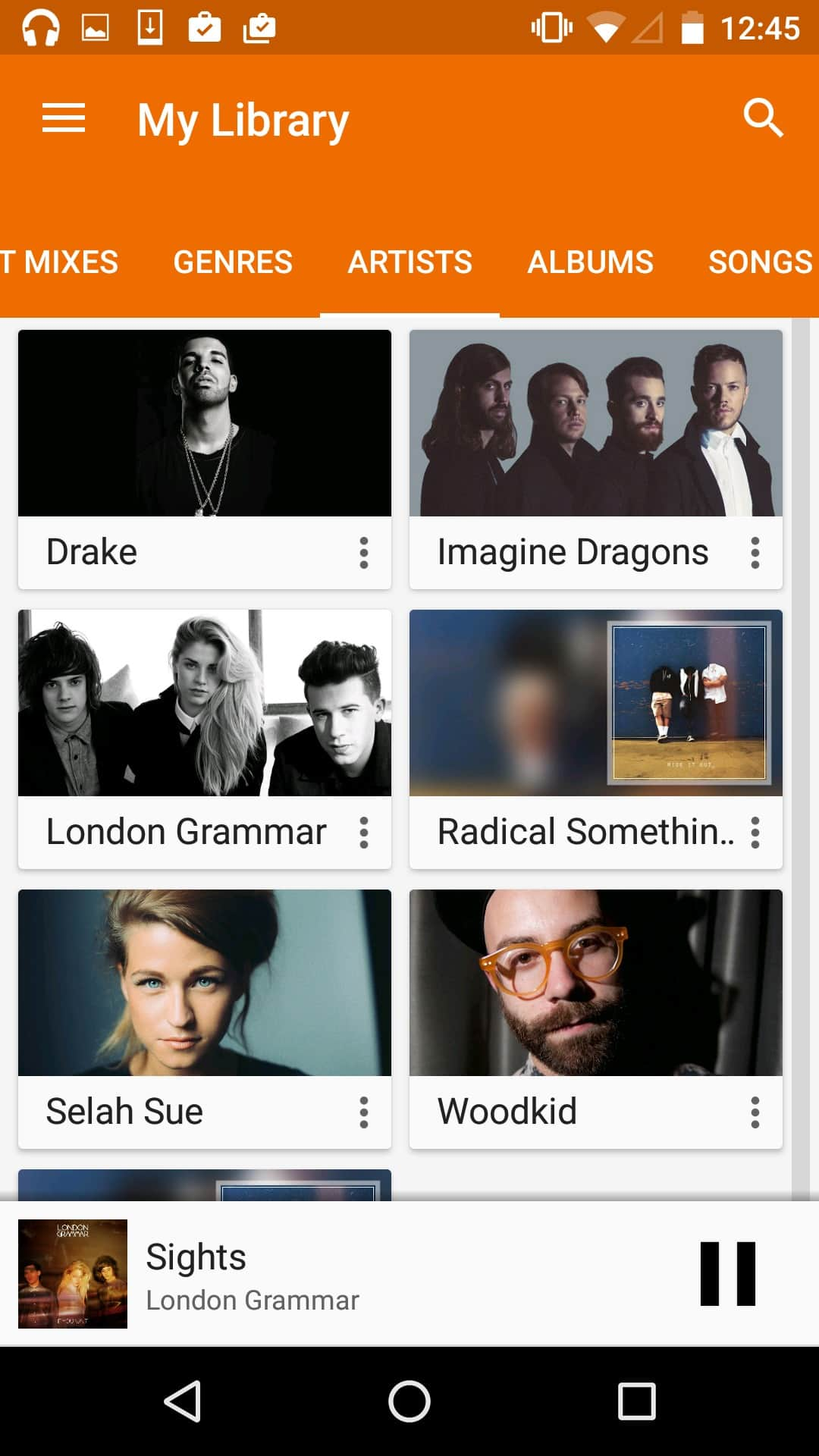 Display artist with pictures by Google Music from UIGarage
