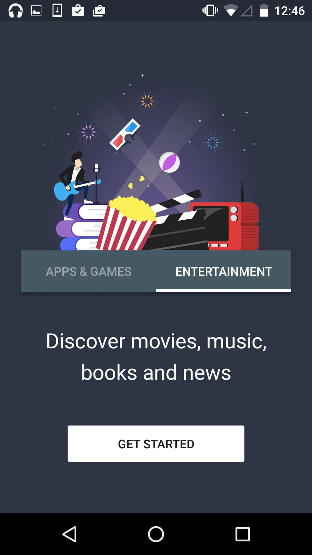 New on boarding by Google Play from UIGarage