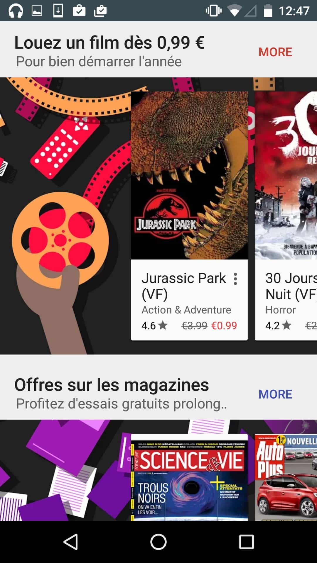 Awesome display of apps and books by Google Play from UIGarage