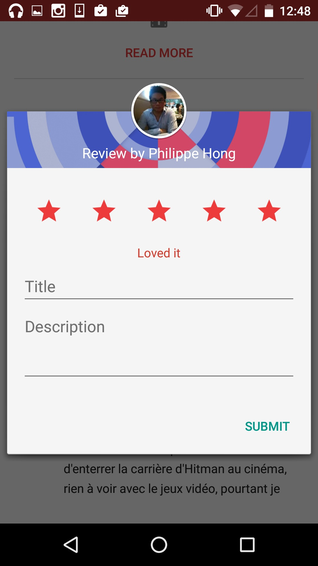 Rating an app by Google Play from UIGarage