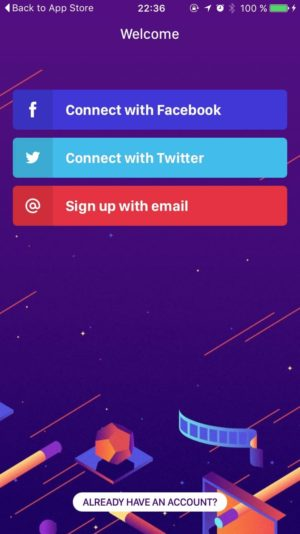 Signup by Wingit from UIGarage