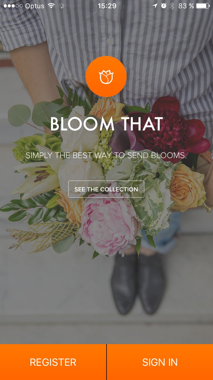 Sign Up Page by Bloomthat from UIGarage