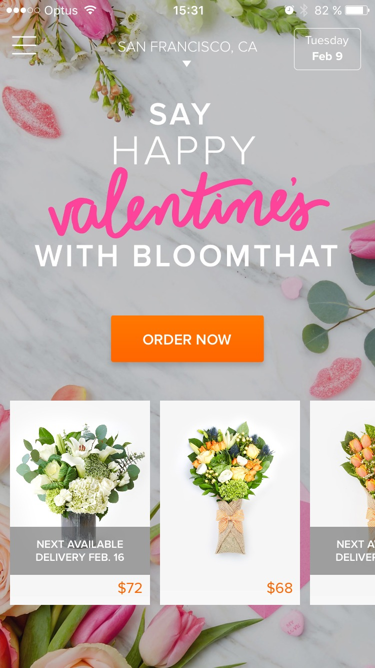 Homepage by Bloomthat from UIGarage