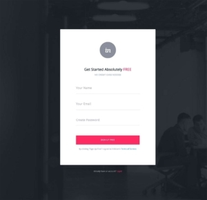 Signup by Invision from UIGarage