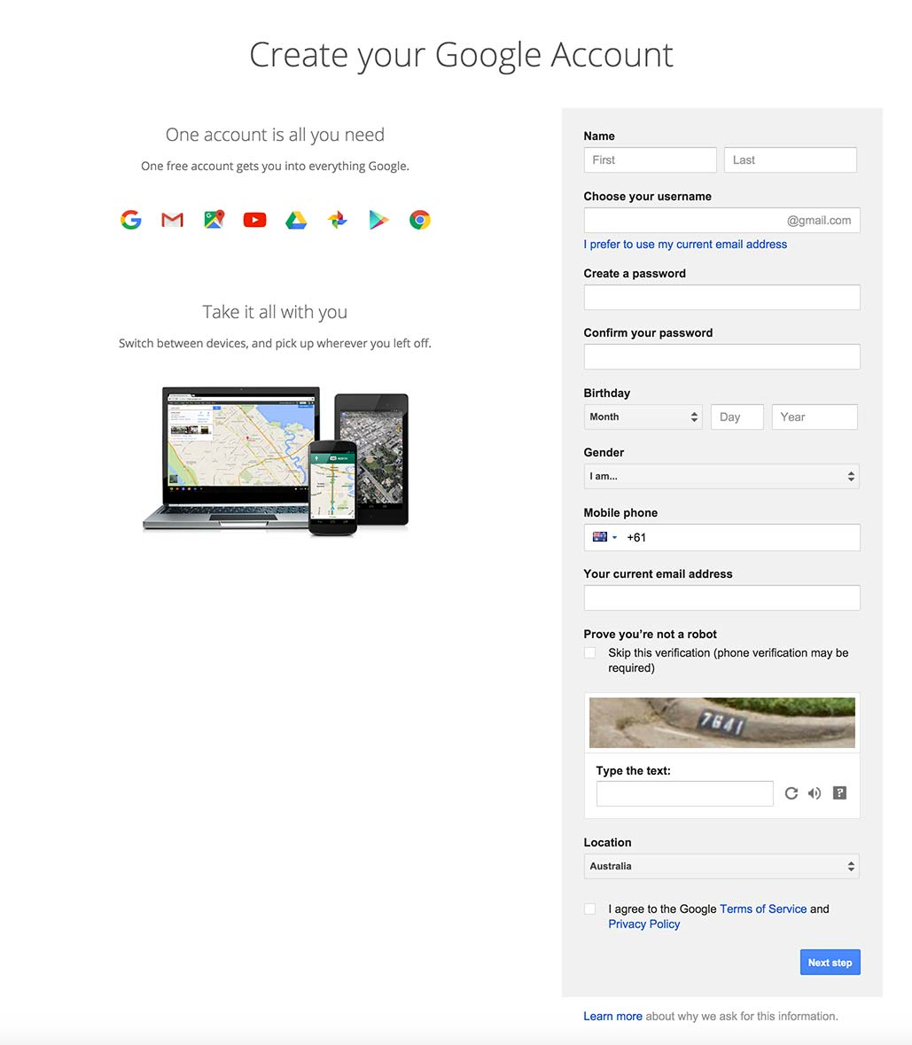 Signup by Google from UIGarage