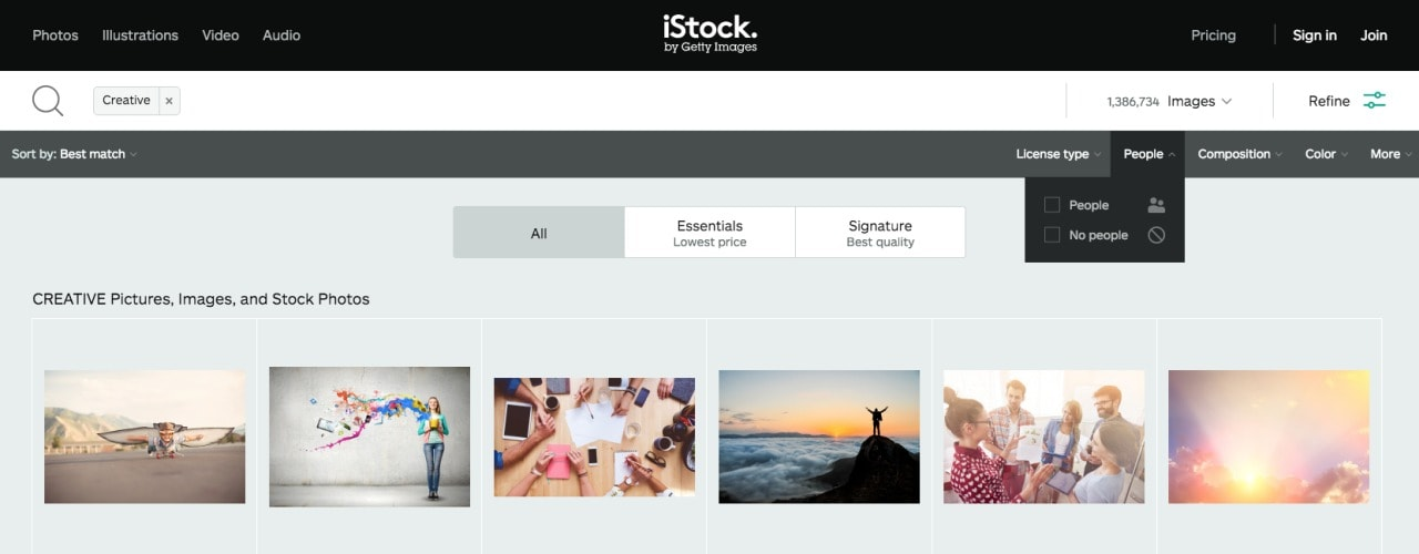 iStock photography filters by iStockPhotography from UIGarage