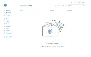 Empty state by Dropbox from UIGarage