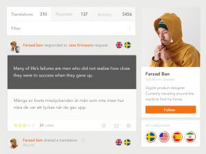 Profile page by Farzadban from UIGarage