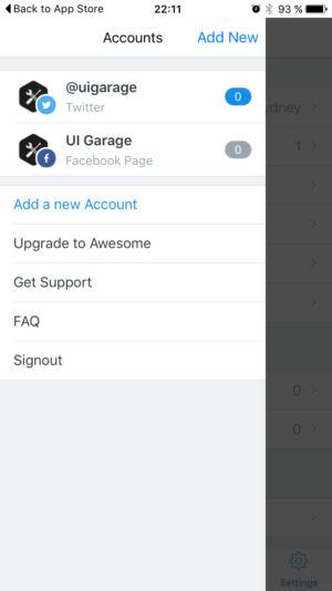 Menu by Buffer from UIGarage