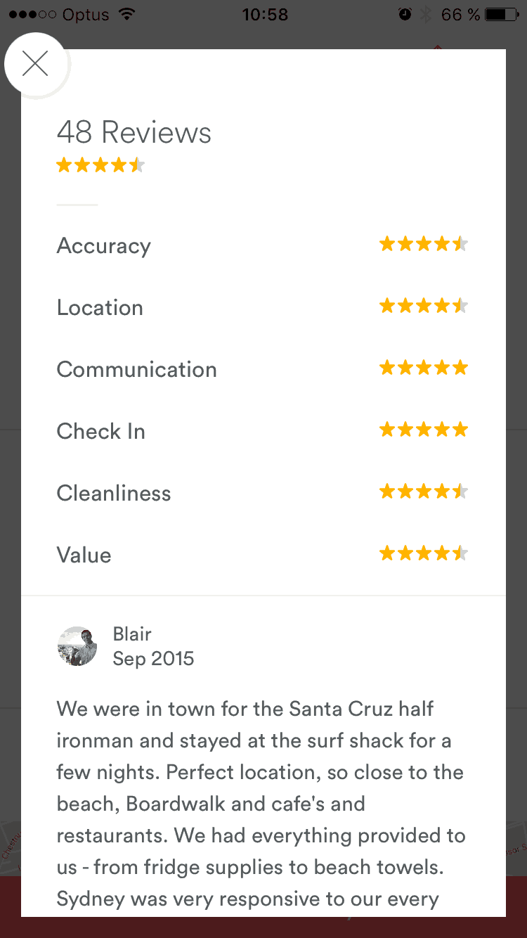 Reviews by Airbnb from UIGarage