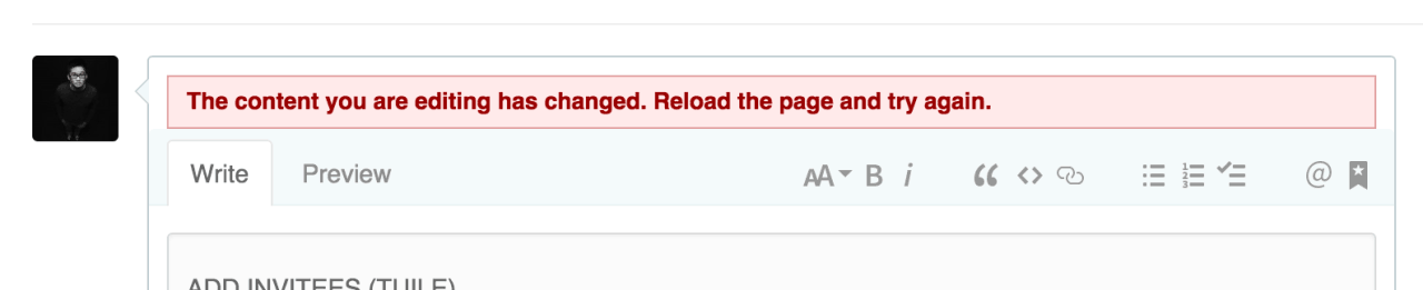 Error message by Github from UIGarage