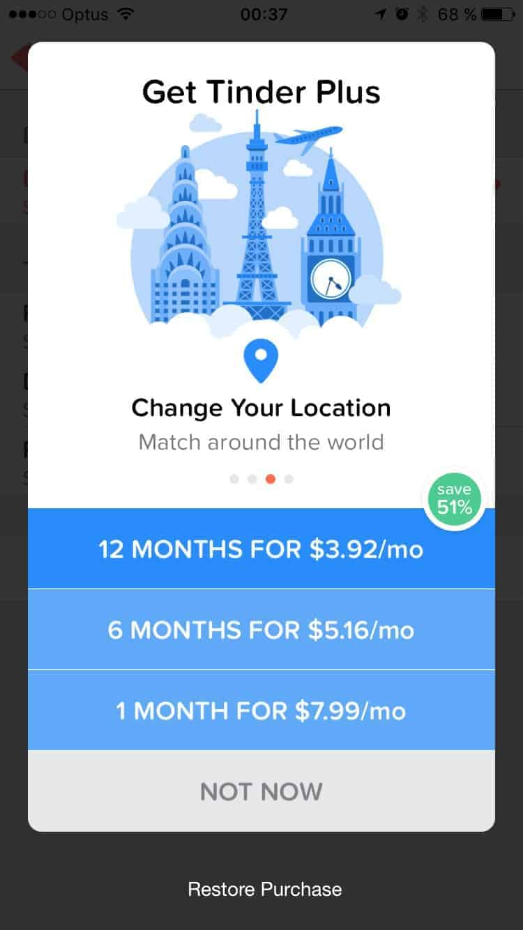 Pricing by Tinder from UIGarage