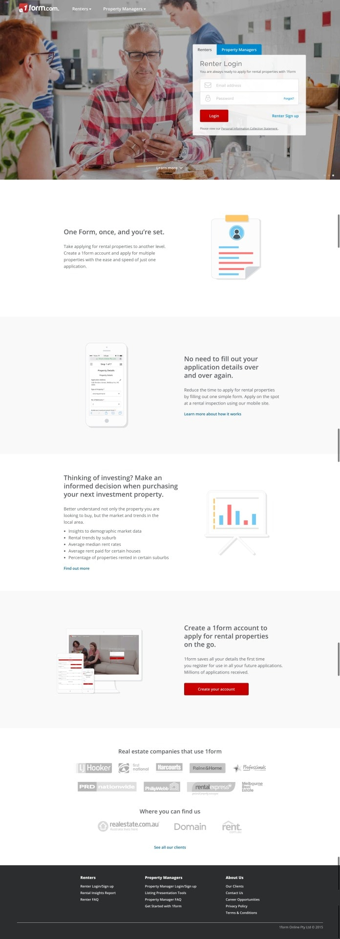 Homepage Design by 1Form from UIGarage