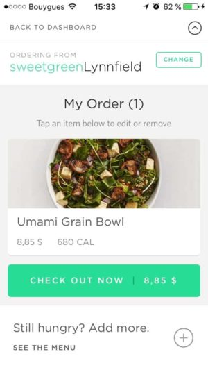 Checkout by Sweetgreen from UIGarage