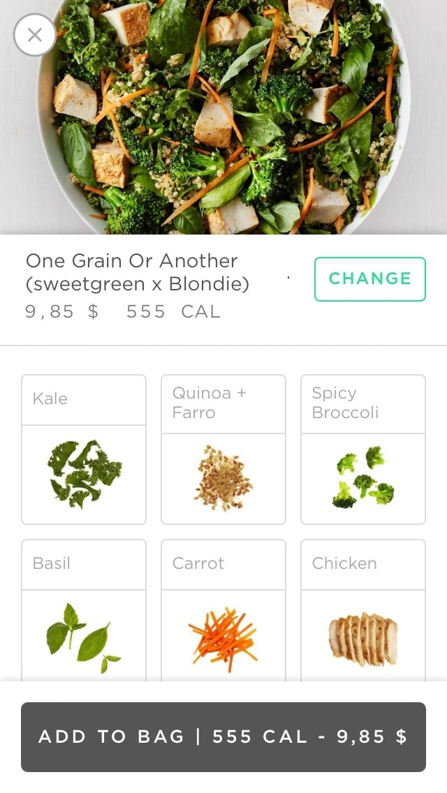 Additional product by Sweetgreen from UIGarage