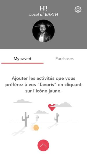 Profile page by Musement from UIGarage