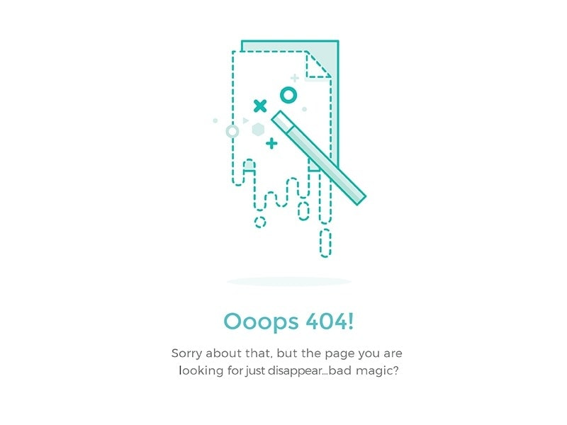 Simple 404 page for web from UIGarage