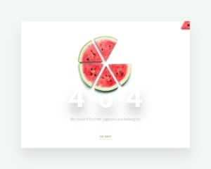 Clear and simple 404 page for web from UIGarage