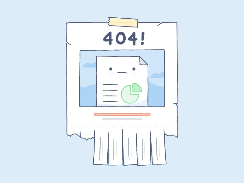 Illustration of a 404 page placeholder from UIGarage