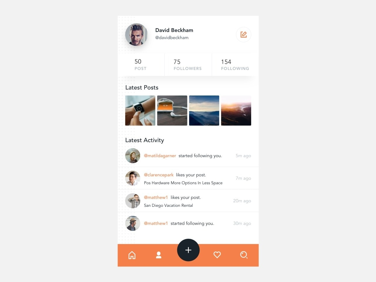Activity page by @ialsaadi #ui #inspiration #interface #ios #design #iphone from UIGarage