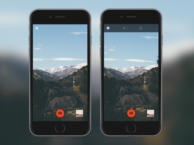 Camera UI by Robert Haverly from UIGarage